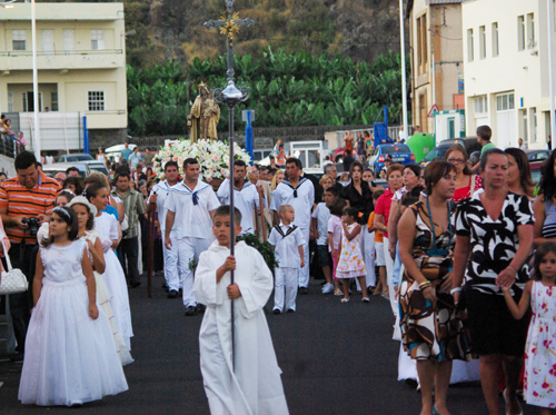 Procession with the statue of Our Lady of Mount Carmel, Puerto Tazacorte