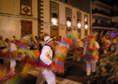 Fufo horses dancing at the fiesta in Tazacorte, La Palma