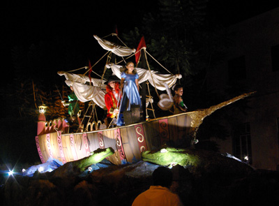 Peter Pan float, Tazacorte fiesta, La Palma