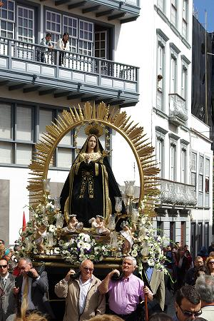 Procession with the statue of Our Lady of Loneliness, Santa Cruz de la Palma
