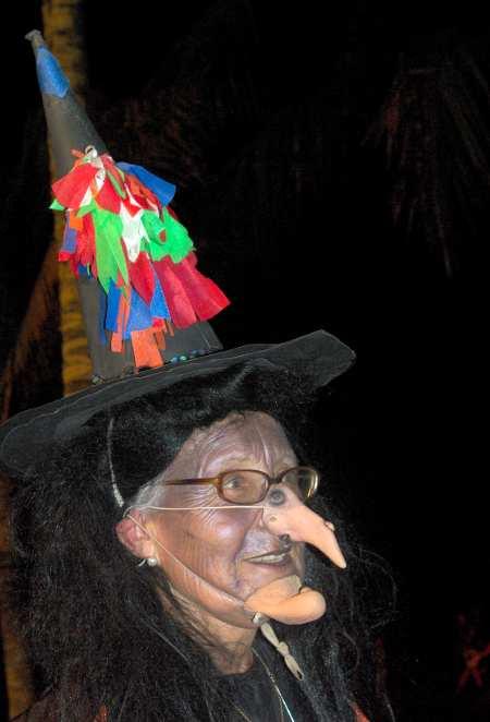 Witch at San Juan fiesta at Puerto Naos, La  Palma