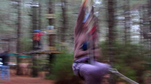 A very blurred photo of the author whizzing past, Acropark, Breña Alta, La Palma