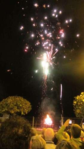 Fireworks as the sardine is cremated, Santa Cruz de La Palma