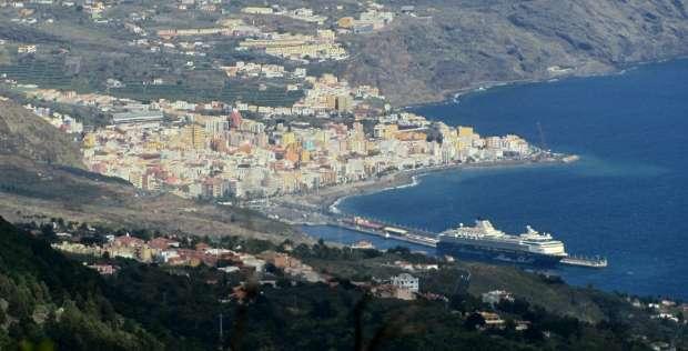Santa Cruz de La Palma, seen from Las Toscas Viewpoint, Mazo, La Palma island