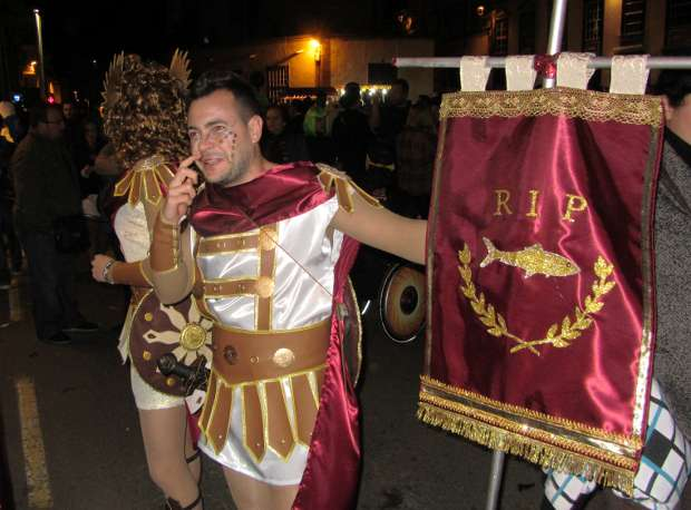 One of the Roman guards protecting the sardine, Los Sauces, 2012