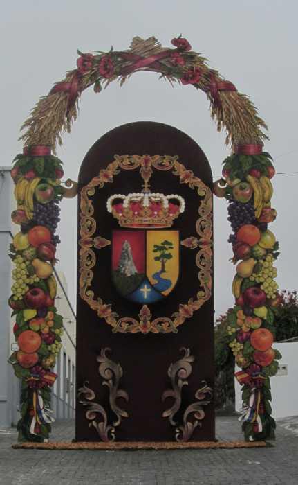Sacred Heart fiesta archway, El Paso
