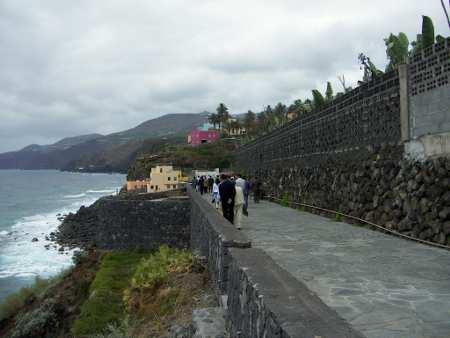 Seaside footpath at Charco Azul, La Palma, Canary Islands