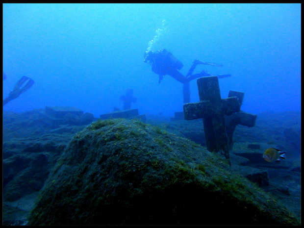 The underwater memorial to the Tazacorte martyrs, La Palma
