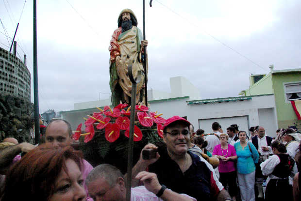Statue of St James the Greater, Romeria de San Antonio, Breña Baja