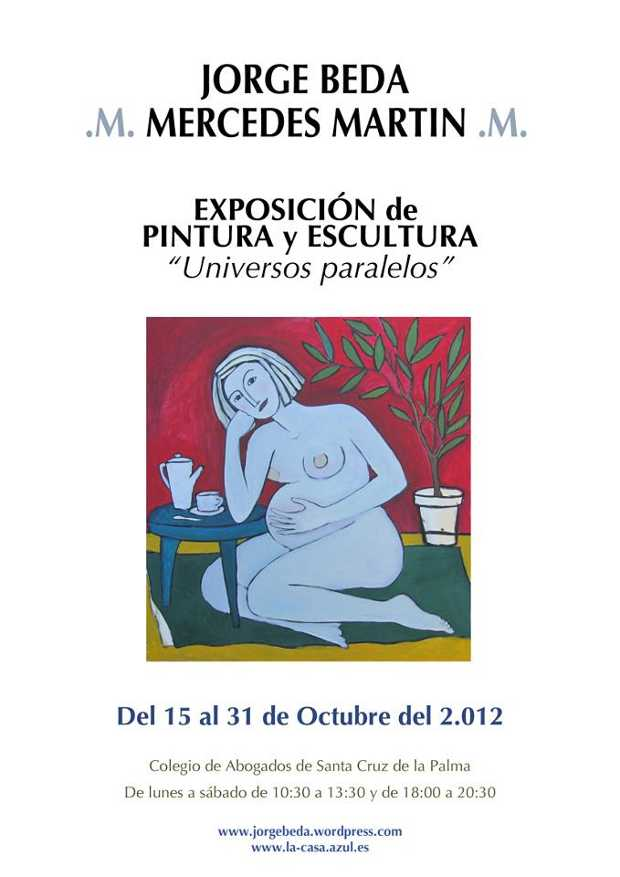 Poster for the exhibition of painting by Merche Martin and Jorge Beda