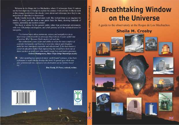 """Cover for """"A Breathtaking Window on the Universe: A guide to the observatory at the Roque de los Muchachos"""""""