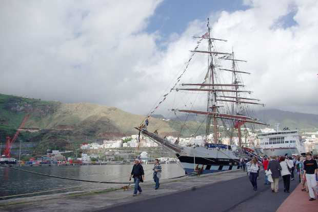Tall Ship in Santa Cruz de La Palma