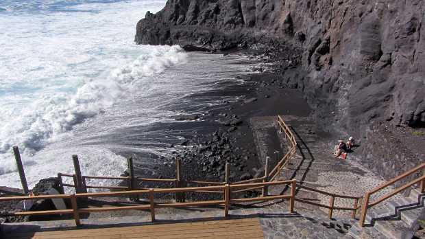 La Zamora's tiny beach, Fuencaliente, La Palma