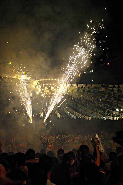 The devil's fiesta at Tijarafe, La Palma island