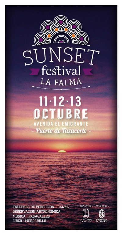 Flyer for the Sunset festival, Tazacorte, 2013