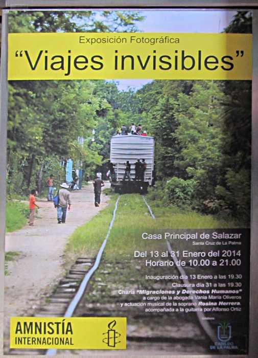 Amnesty International's exhibition, Santa Cruz de La Palma