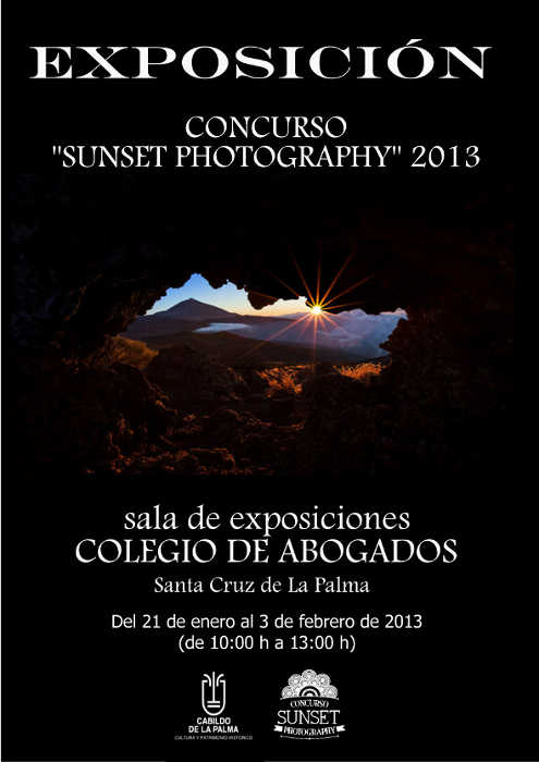 Poster for the Sunset Photography 2013 exhibition