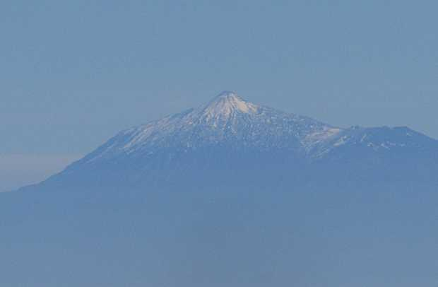 Mount Teide with a dusting of snow