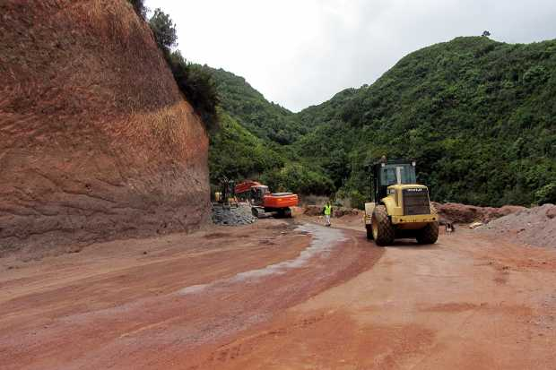 Roadworks between Barlovento and Gallegos, La Palma