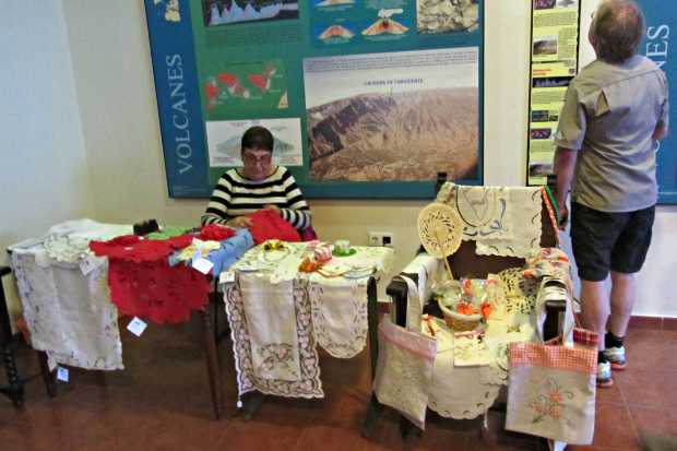 Crafts on sale at the volcanoes Visitor Centre, Fuencaliente