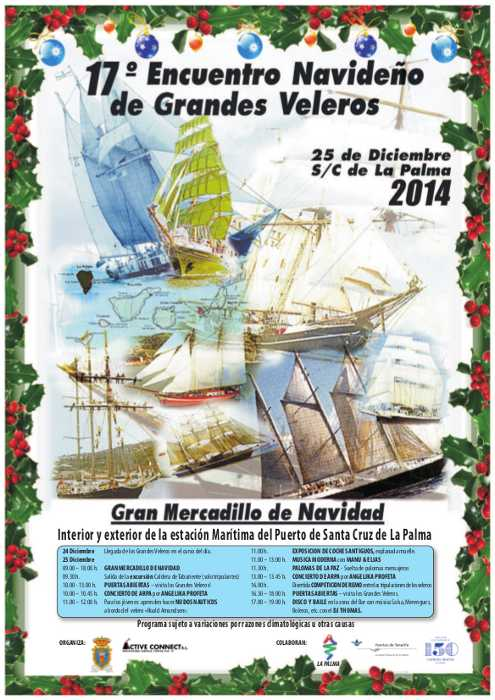 Poster for the 2014 Tall Ships meeting in Santa Cruz de La Palma
