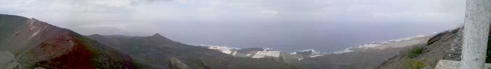 Panorama looking south from the crater of San Antonio volcano, Fuencaliente